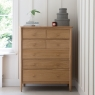 Ercol Teramo 7 Drawer Tall Wide Chest 3
