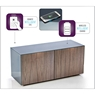 High Gloss TV Unit With Wireless Phone Charging In Grey