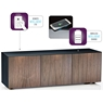 High Gloss 3 Door TV Unit With Wireless Phone Charging In Black