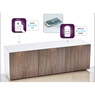 High Gloss 3 Door TV Unit With Wireless Phone Charging In White