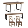 Cookes Collection Jacob Dining Table, Bench and 2 Chairs