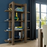 TRINITY DARK OAK DINING Cookes Collection Trinity Dark Oak Open Display Unit