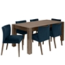 TRINITY DARK OAK DINING Cookes Collection Trinity Dark Oak Medium Extending Dining Table