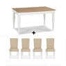 Cookes Collection Camden Two Tone Dining Table And 4 Chairs