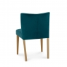 TRINITY LIGHT OAK Cookes Collection Trinity Low Back Upholstered Chair Sea Green Velvet