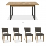 Cookes Collection Iris Dining Table and 4 Chairs 2