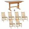 Ercol Windsor Medium Extending Table and 6 Chairs 1