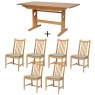 Ercol Windsor Medium Extending Table and 6 Chairs 2