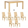 Ercol Bosco Medium Extending Dining Table and 6 Chairs 1