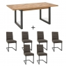 Cookes Collection Iris Extending Dining Table & 6 Cantilever Chairs 2
