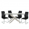 Anguilla Dining Table and 4 Black Chairs 1
