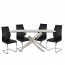 Anguilla Dining Table and 4 Black Chairs 2