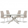 Anguilla Dining Table and 4 Taupe Chairs 2