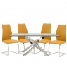 Anguilla Dining Table and 4 Pumpkin Chairs 1