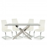 Anguilla Dining Table and 4 White Chairs 2