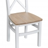 Cookes Collection Thames White Crossed Back Chair 6
