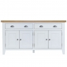 Cookes Collection Thames White 4 Door Sideboard 2