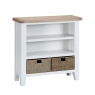 Cookes Collection Thames White Small Wide Bookcase 1