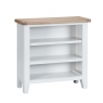 Cookes Collection Thames White Small Wide Bookcase 3
