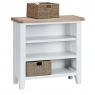 Cookes Collection Thames White Small Wide Bookcase 4