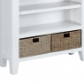 Cookes Collection Thames White Small Wide Bookcase 6