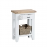 Cookes Collection Thames White Telephone Table 3