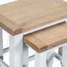 Cookes Collection Thames White Nest of Tables 5
