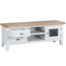 Cookes Collection Thames White TV Unit 4