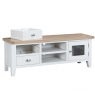 Cookes Collection Thames White TV Unit 5