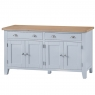 Cookes Collection Thames Grey 4 Door Sideboard 2