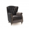 Dawson Wing Back Chair Grey