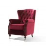 Dawson Wing Back Chair Berry 2