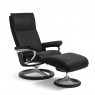 Stressless Aura Large Chair & Stool Signature Base 1