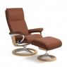 Stressless Aura Large Chair & Stool Signature Base 4