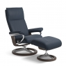 Stressless Aura Large Chair & Stool Signature Base 5