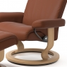 Stressless Aura Large Chair & Stool Classic Base 1