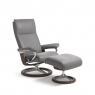 Stressless Aura Medium Chair & Stool Signature Base 2
