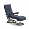 Stressless Aura Medium Chair & Stool Signature Base 5