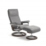Stressless Aura Small Chair & Stool Signature Base 2
