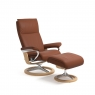 Stressless Aura Small Chair & Stool Signature Base 4