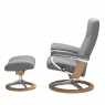 Stressless Dover Small Chair & Stool Signature Base 2