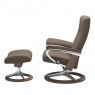 Stressless Dover Medium Chair & Stool Signature Base 2