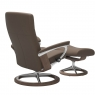 Stressless Dover Medium Chair & Stool Signature Base 4