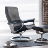 Stressless Dover Medium Chair & Stool Signature Base 5