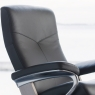 Stressless Dover Medium Chair & Stool Signature Base 6