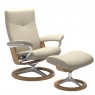 Stressless Dover Large Chair & Stool Signature Base 1