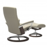 Stressless Dover Large Chair & Stool Signature Base 4