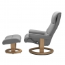 Stressless View Medium Chair & Stool Classic Base 2