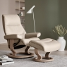 Stressless View Medium Chair & Stool Classic Base 5