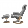 Stressless View Medium Chair & Stool Signature Base 2